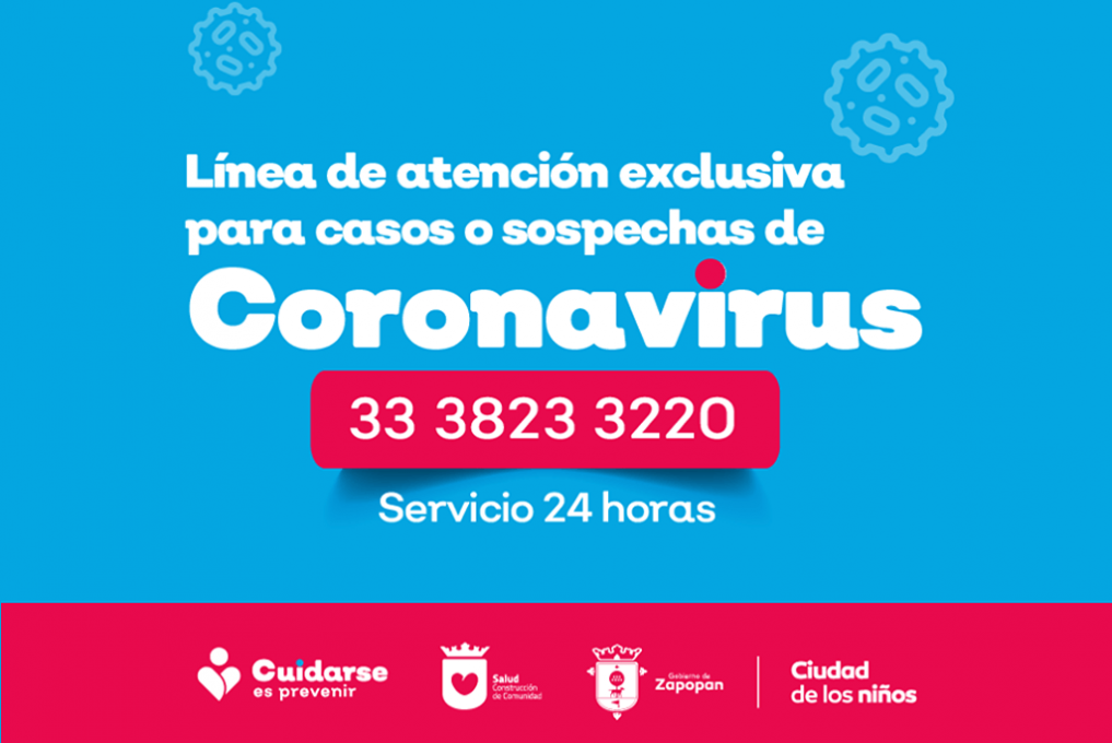 Ante cualquier duda o sospecha de contagio por #coronavirus COVID-19 marca al teléfono 33 38 233220 para recibir orientación las 24 horas.