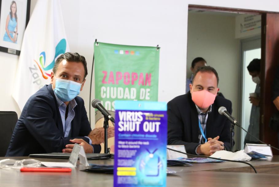 Dona Truekx de México 20 mil cubrebocas aZapopan