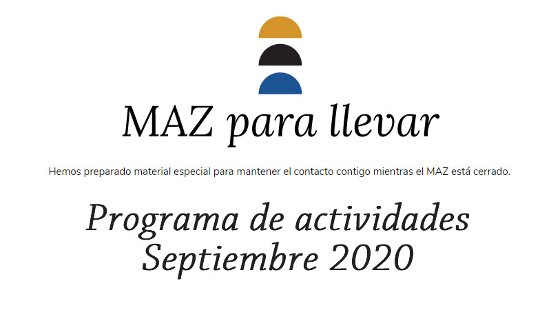 MAZ Museo: Agenda de eventos septiembre