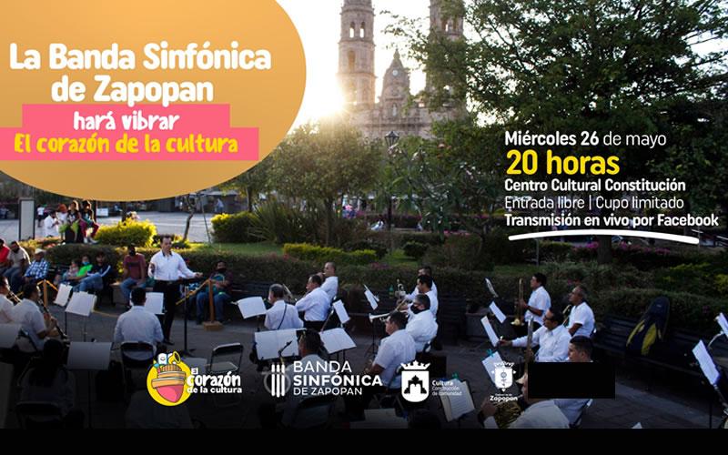 Promocional del concierto de la Banda Sinfonica de Zapopan