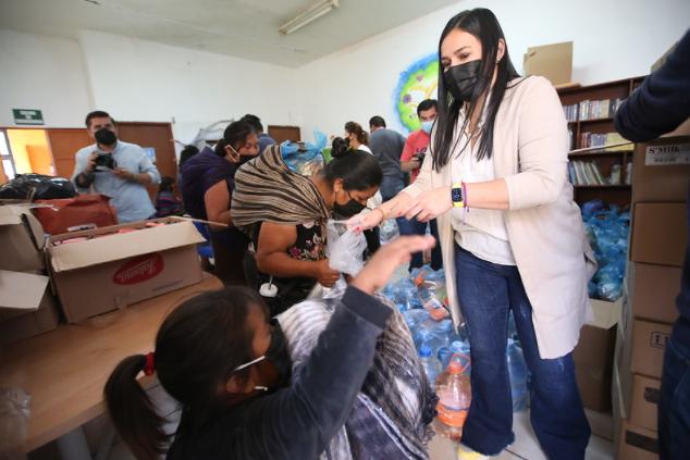 Entrega DIF Zapopan ayuda humanitaria a comunidades indígenas damnificadas