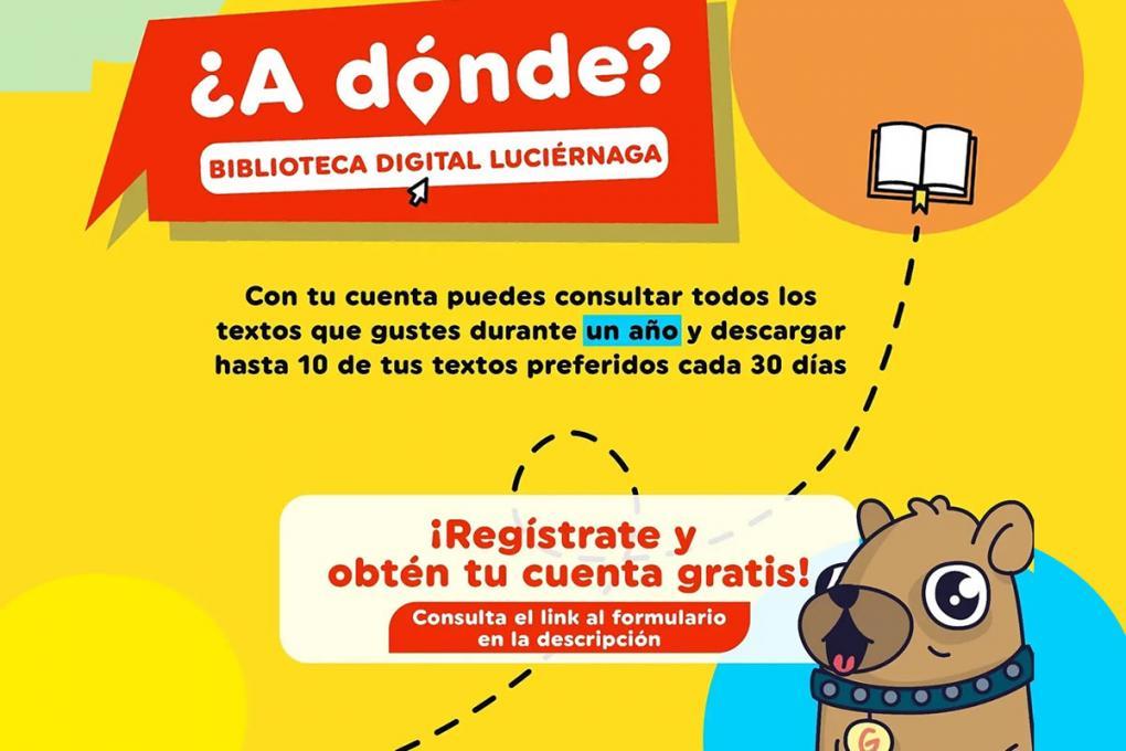 Regístrate en la Biblioteca Virtual Luciérnaga