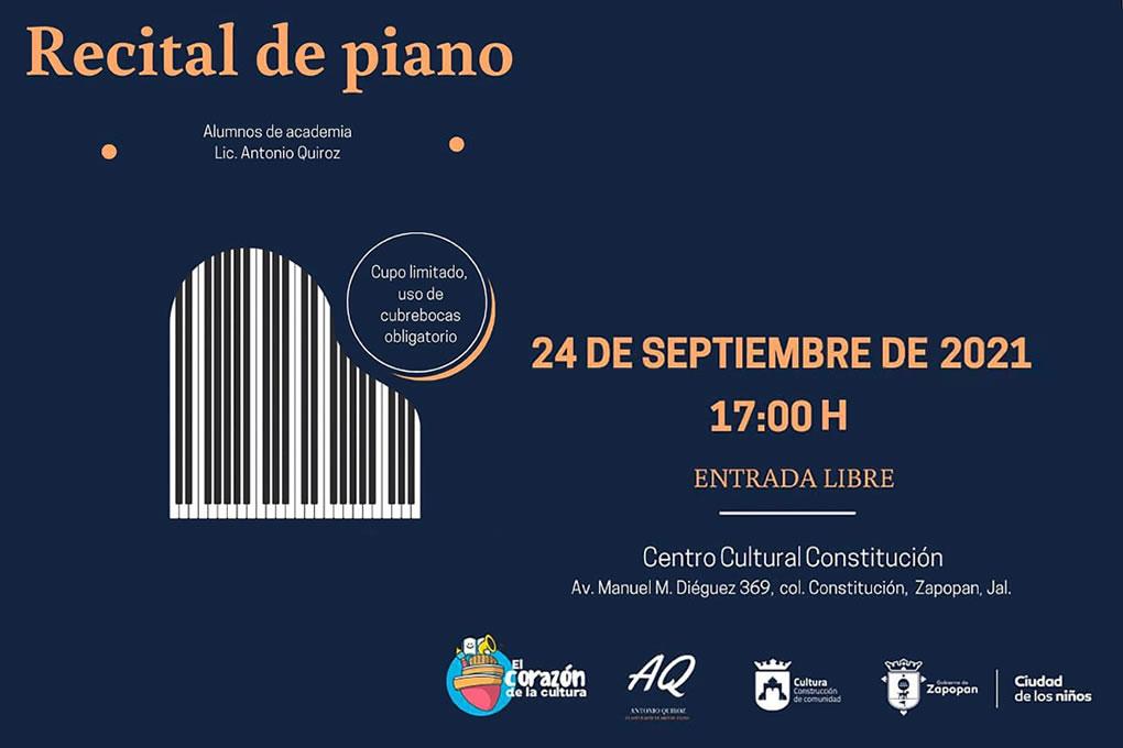 Recital de piano: Alumnos de academia, Lic. Quiroz